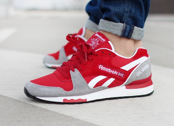 Reebok GL6000 Flash Red Flat Grey  (6)