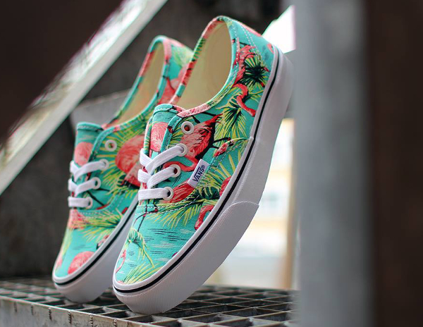 Vans Authentic Turquoise Flamengo (flamant rose) (1)