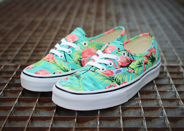 Vans Authentic Turquoise Flamengo (flamant rose) (2)
