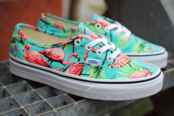 Vans Authentic Turquoise Flamengo (flamant rose) (3)