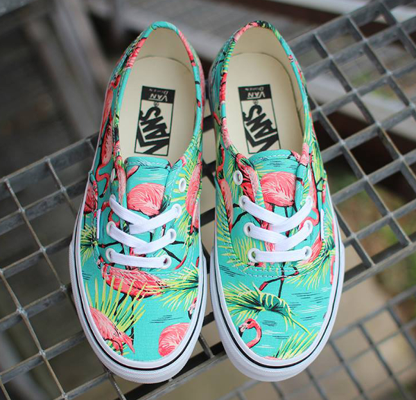 Vans Authentic Turquoise Flamengo (flamant rose) (4)