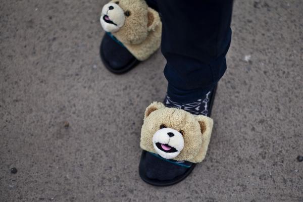sandales Adilette Jeremy Scott Teddy Bear (tête nounours) (1)