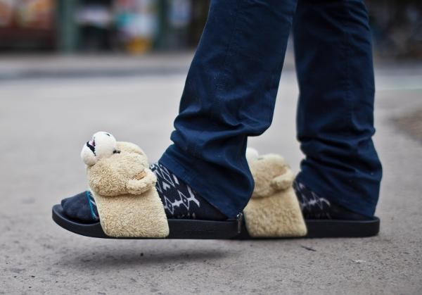 sandales Adilette Jeremy Scott Teddy Bear (3)