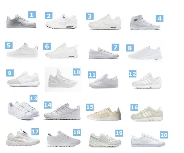 Les 20 meilleures baskets blanches du moment