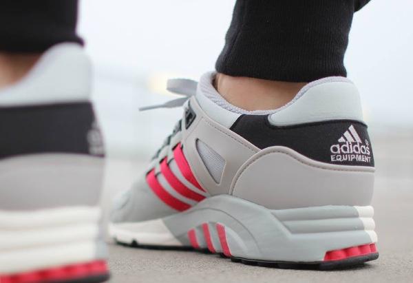Adidas EQT Support 93 Core Black Chalk White Scarlet (3)