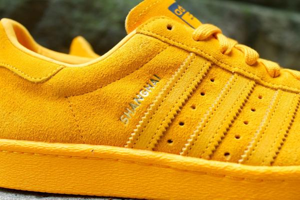 Adidas Superstar 80's Collegiate Gold City Shanghai (1)