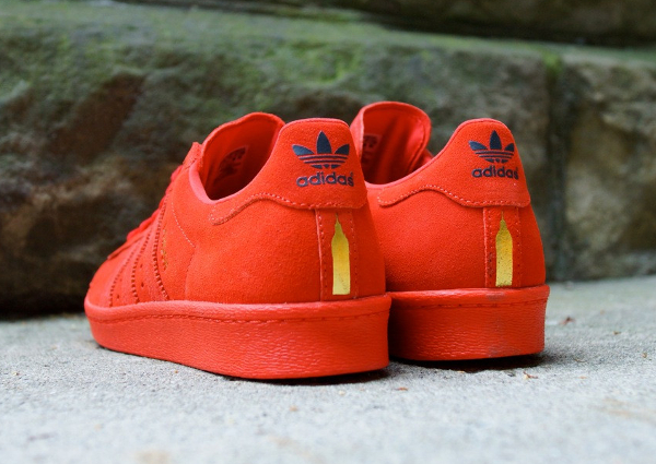adidas superstar rouge daim