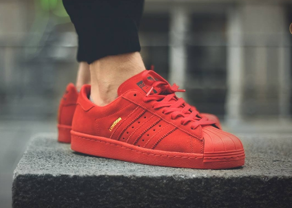 Adidas Superstar 80's Red City London (rouge)