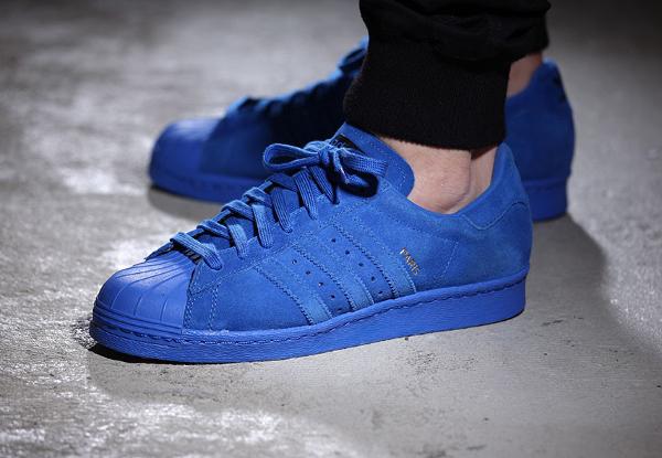 Adidas Superstar 80's Suede Paris City Blue (tour Eiffel) (1)