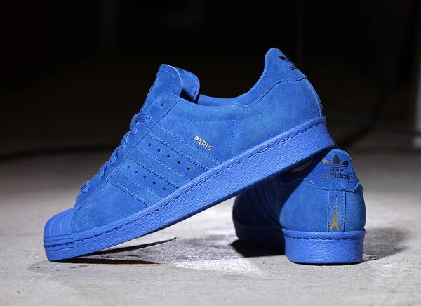Adidas Superstar 80's Suede Paris City Blue (2)