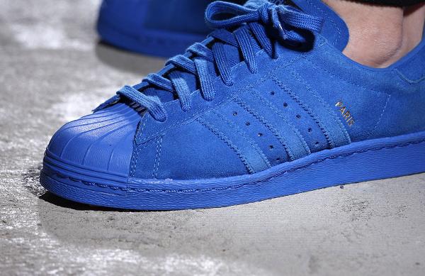 Adidas Superstar 80's Suede Paris City Blue (3)