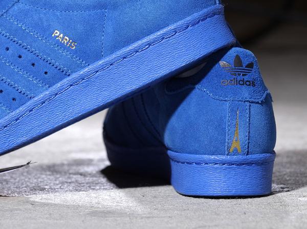 Adidas Superstar 80's Suede Paris City Blue (4)