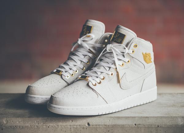 Air Jordan 1 High Pinnacle White Gold