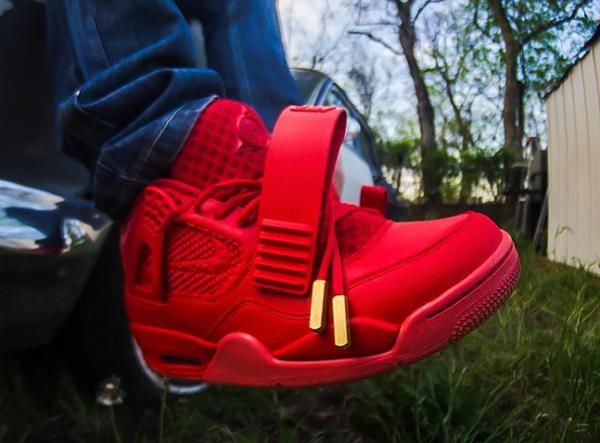 Air Jordan 4 x Yeezy 2 Red October - Franck Louboutin-1