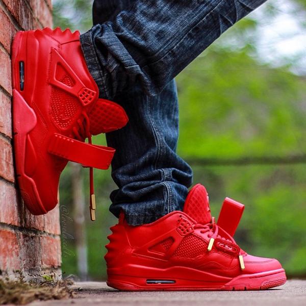Air Jordan 4 x Yeezy 2 Red October - Franck Louboutin