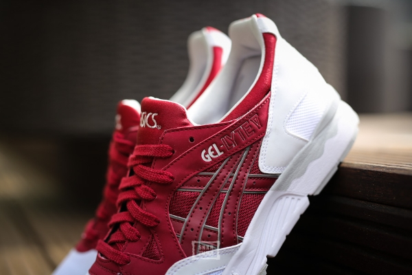 asics gel lyte v white and burgundy red