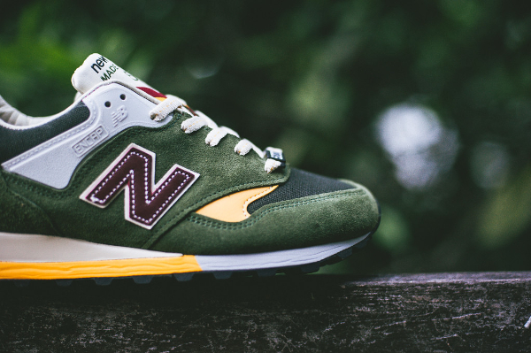 New Balance M577 Dark Green Yellow (1)