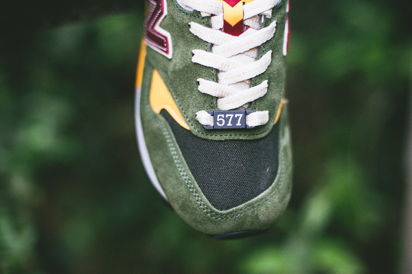 New Balance M577 Dark Green Yellow (4)