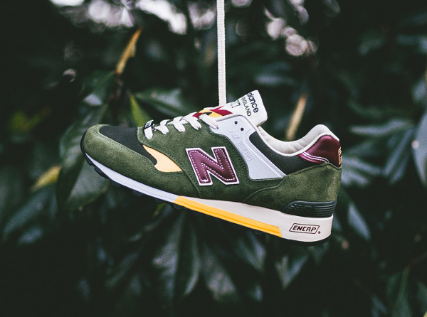 New Balance M577 Dark Green Yellow (5)