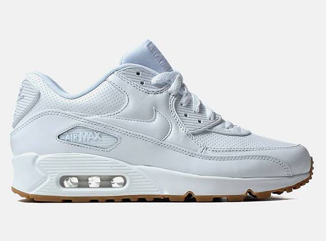 Nike Air Max 90 Leather White Ostrich Gum