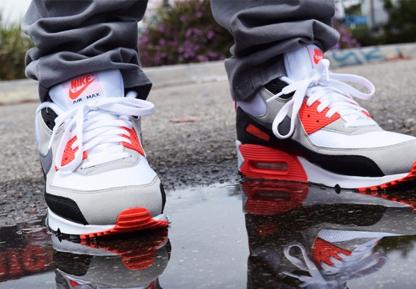 Nike Air Max 90 OG White Cool Grey Infrared 2015 (3)
