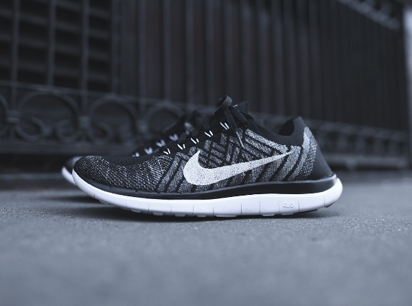 f8c7687b7dc27 ... discount code for nike free flyknit 4.0 nike lunar nike free 4.0 flyknit  black white wolf ...