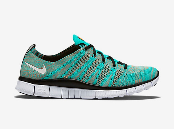 Nike Free Flyknit NSW Hyper Jade Black Orange (2-1)