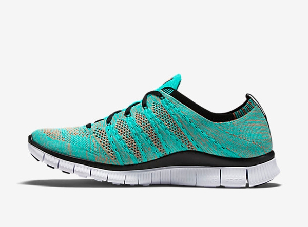 Nike Free Flyknit NSW Hyper Jade Black Orange (2)