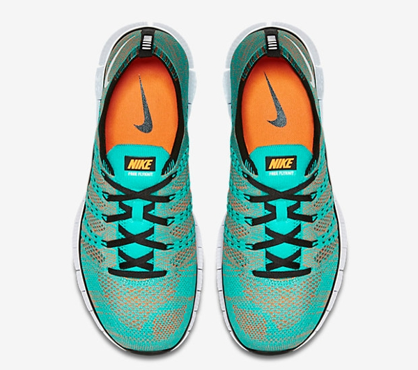Nike Free Flyknit NSW Hyper Jade Black Orange (3)