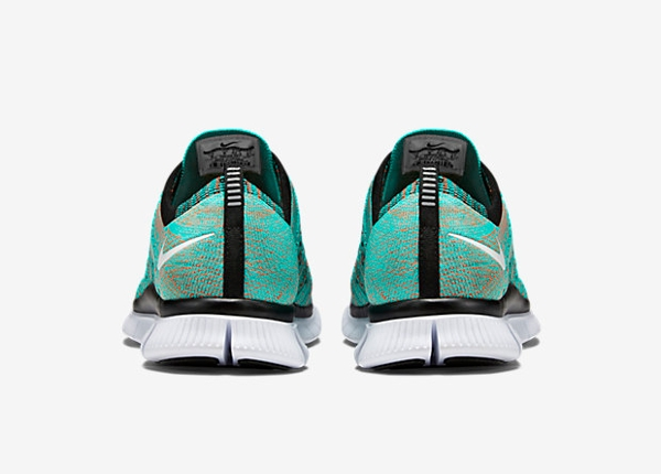 Nike Free Flyknit NSW Hyper Jade Black Orange (4)