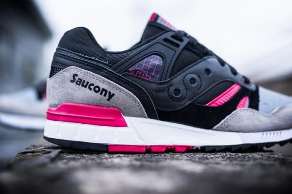 Saucony Grid SD 'Games Pack' Black Grey Pink  (3)