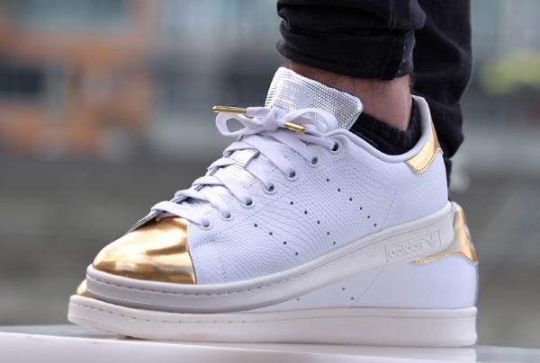 stan smith metallic gold