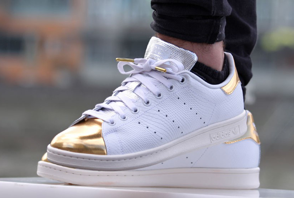 Adidas Stan Smith White Gold Metallic (1)
