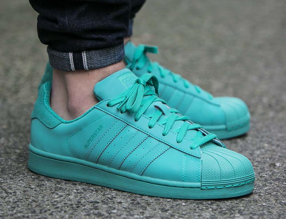 Adidas Superstar 80 Adicolor Shock Mint pas cher en soldes