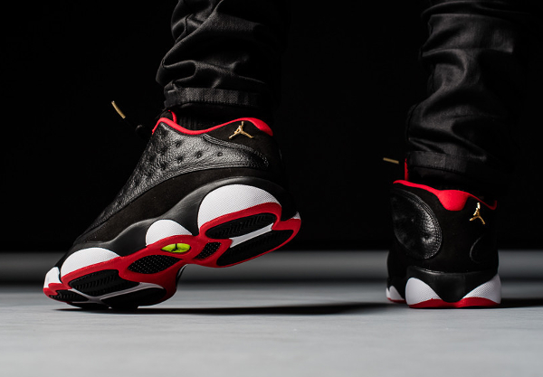 Air Jordan 13 Retro Low Black Metallic Gold Red (2)