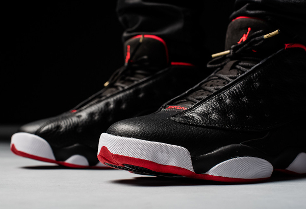 Air Jordan 13 Retro Low Black Metallic Gold Red (4)