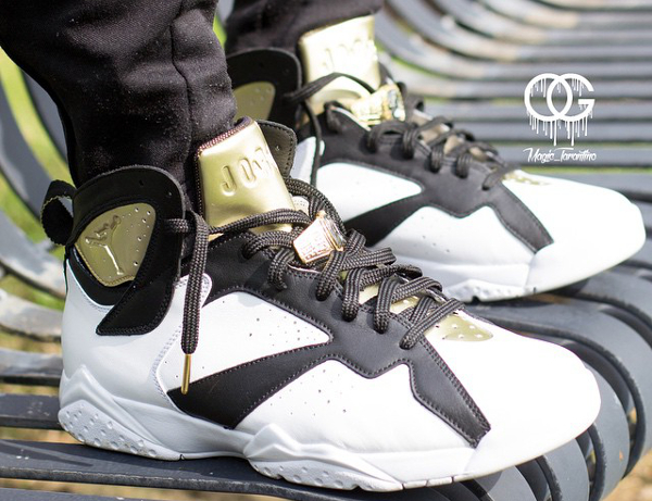 Air Jordan 7 Champagne White Black Gold (1)