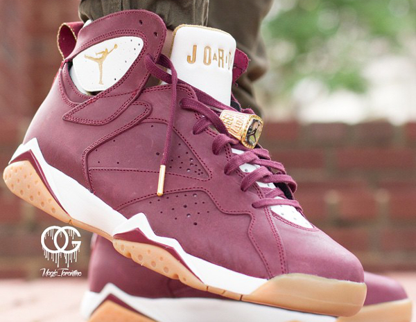 Air Jordan 7 Cigar Team Red Gold (1)