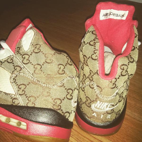 Contrefaçon Air Jordan 5 Gucci