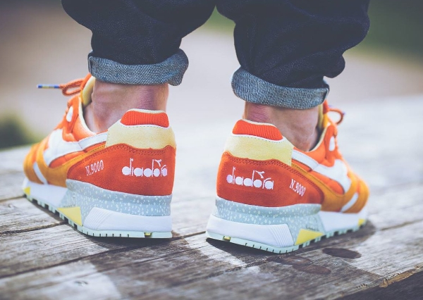 Diadora N9000 Orange White x Mita Sneakers (Made in Italy) (1)