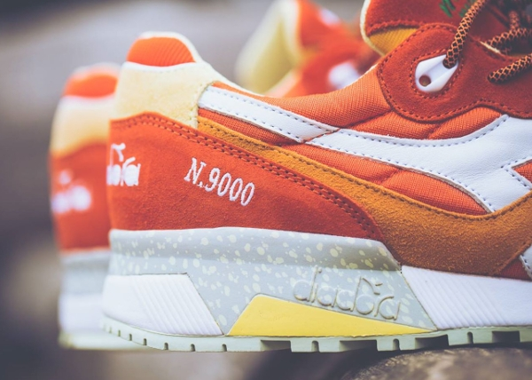 Diadora N9000 Orange White x Mita Sneakers (Made in Italy) (5)