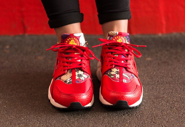 Nike Air Huarache Print Aloha Red Floral (3)
