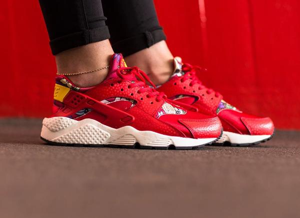 Nike Air Huarache Print Aloha Red Floral (4)