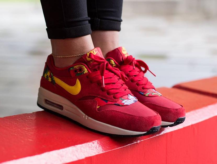 Nike Air Max 1 Print Aloha Red Floral (5)
