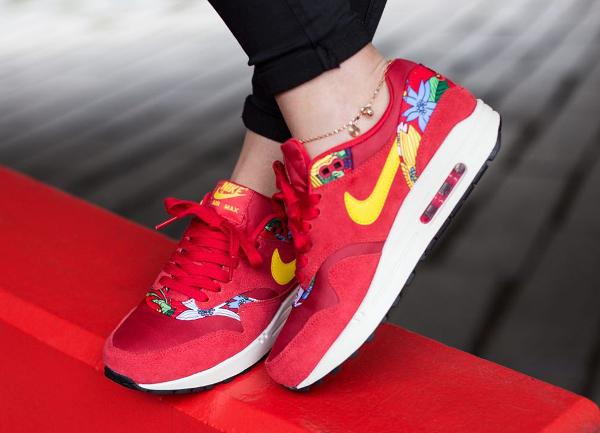 Nike Air Max 1 Print Aloha Red Floral (7)