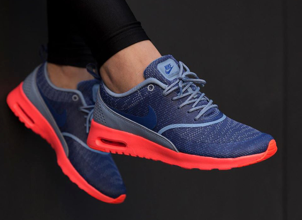 Nike Air Max Thea Jacquard Blue Hot Lava