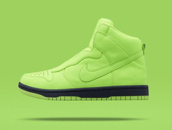 Nike Dunk High Lux Slip On Volt x Sacai (1)