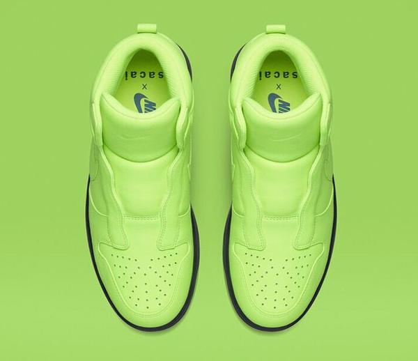 Nike Dunk High Lux Slip On Volt x Sacai (2)