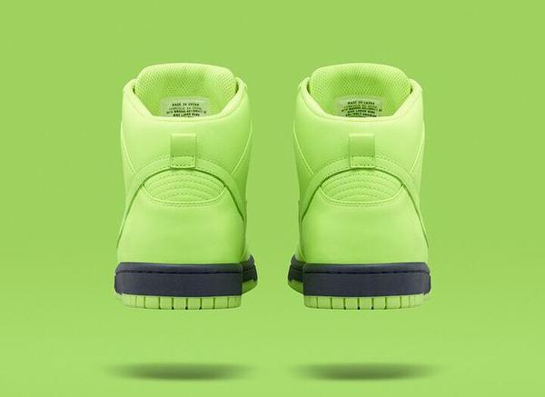 Nike Dunk High Lux Slip On Volt x Sacai (3)