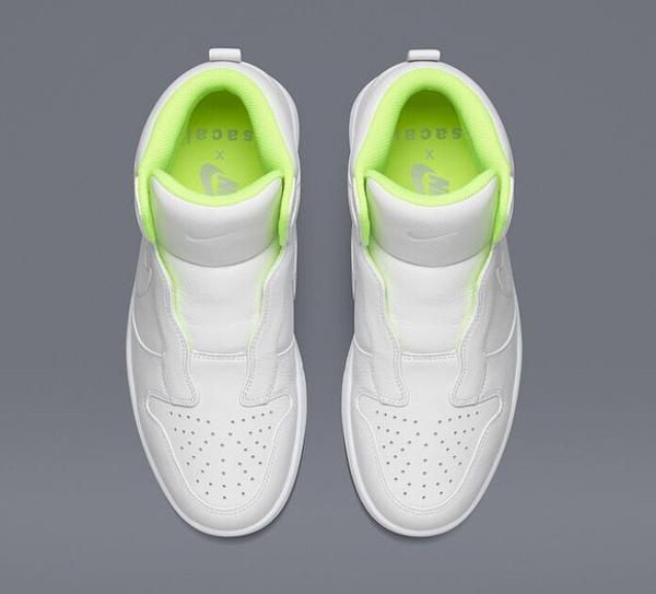 Nike Dunk High Lux Slip On White x Sacai (2)
